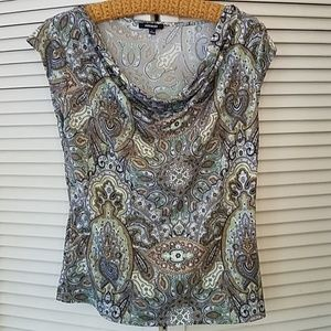 Paisley spring/summer blouse EUC